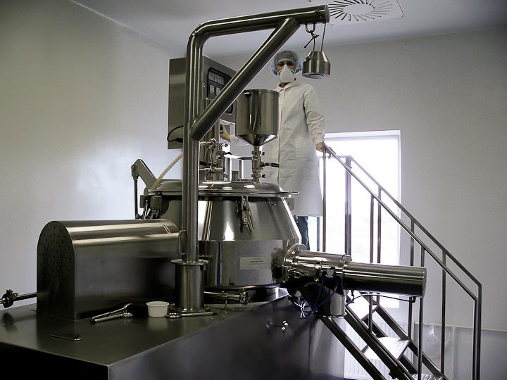 Многофункциональный супермиксер-гранулятор на производстве АЛСИ Фарма