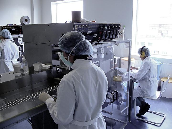 блистерная машина KDB-120 на производстве АЛСИ Фарма