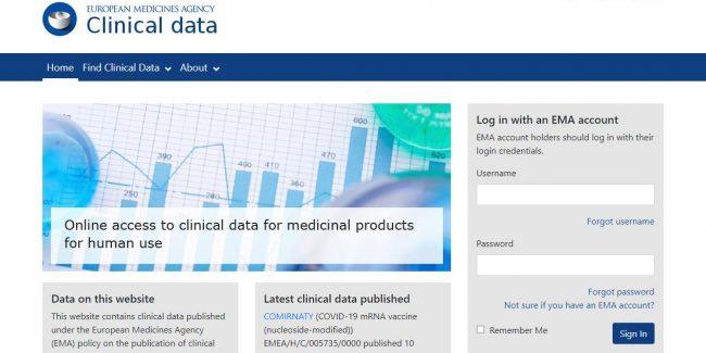 ЕМА обеспечивает онлайн-доступ к данным клинических исследований лекарственных препаратов