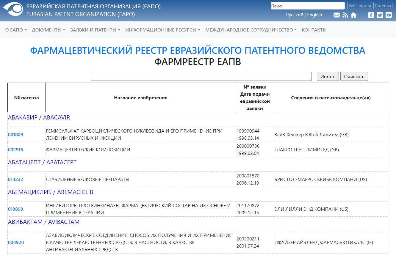 reestr patent